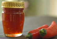 home-made sweet chilli sauce