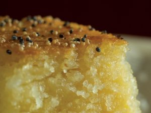 golden semolina pudding
